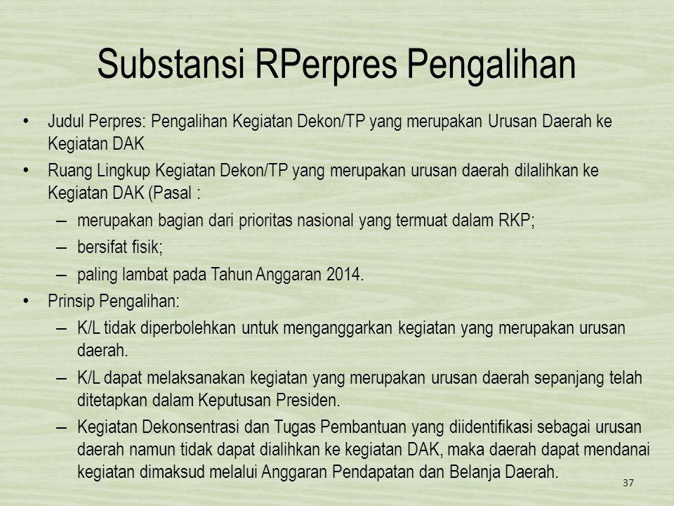 Substansi RPerpres Pengalihan