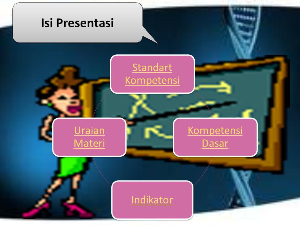 Isi Presentasi Standart Kompetensi Kompetensi Dasar Indikator