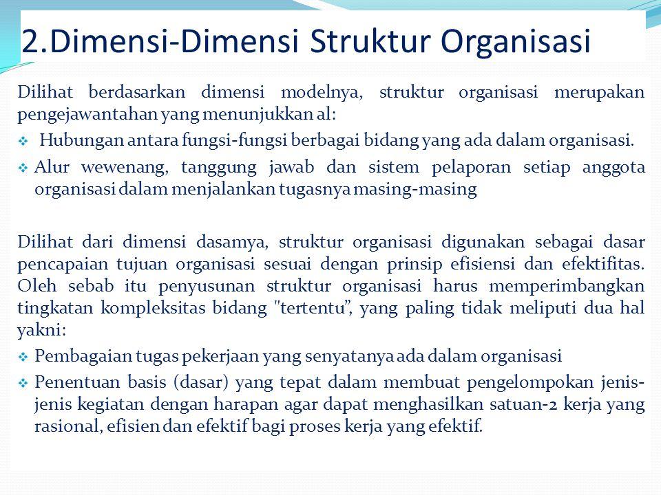 Dimensi-Dimensi Struktur Organisasi