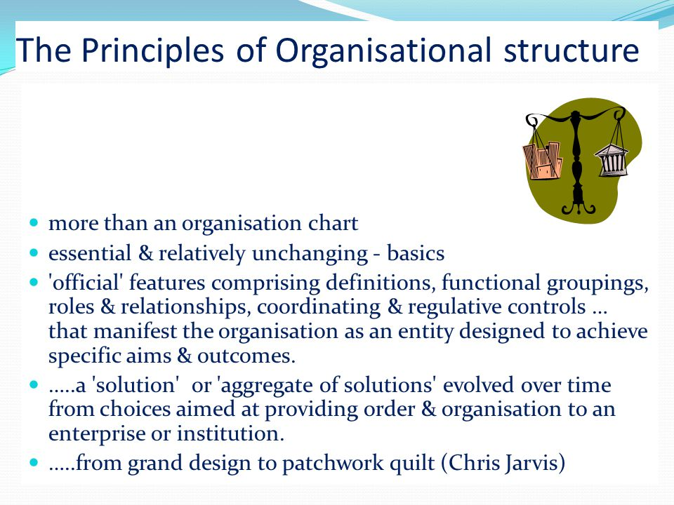 The Principles of Organisational structure