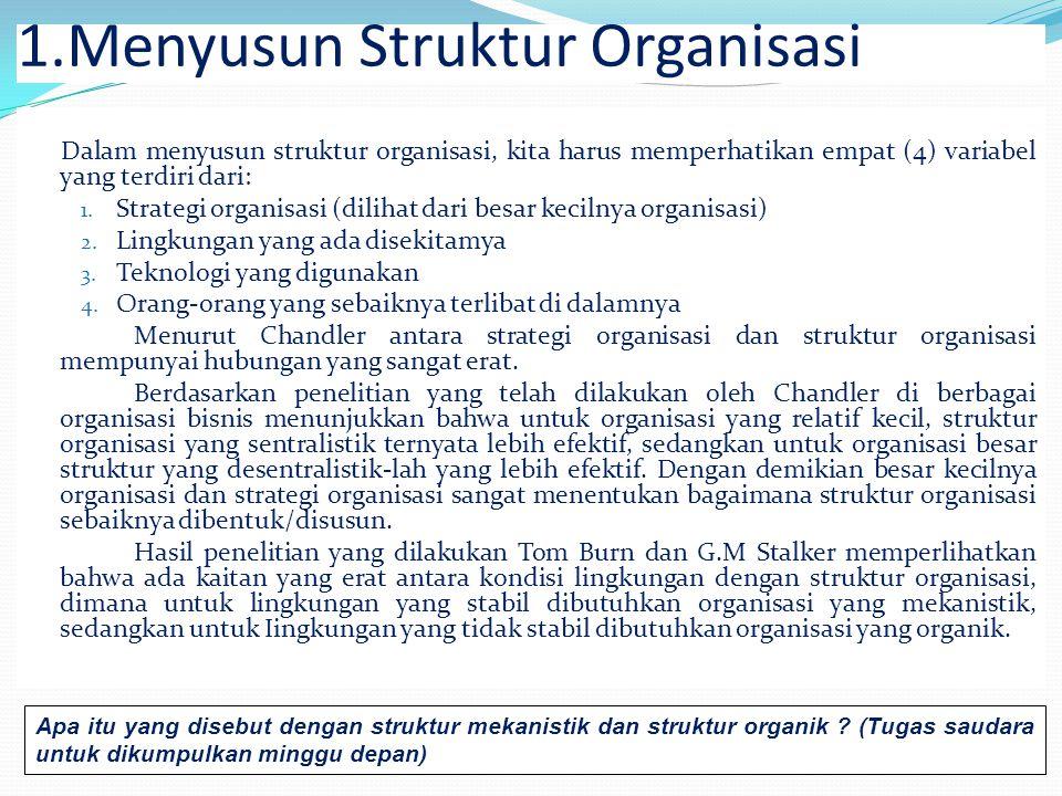 Menyusun Struktur Organisasi
