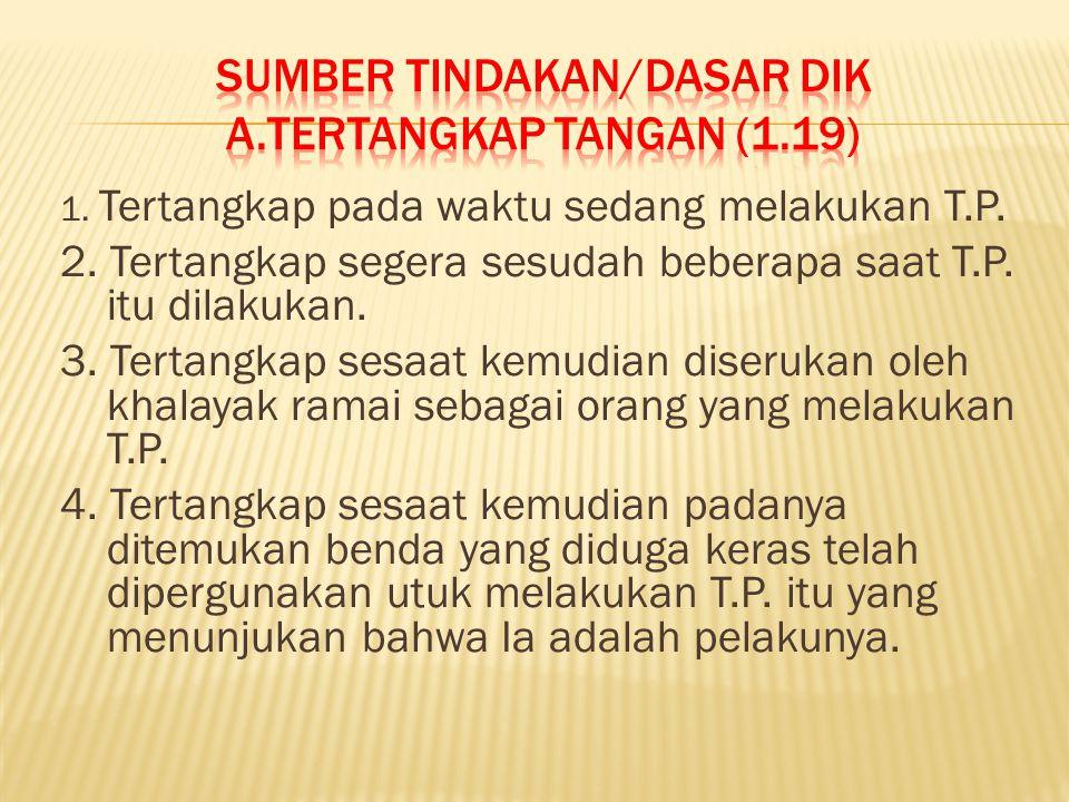 Sumber tindakan/dasar dik A.TERTANGKAP TANGAN (1.19)