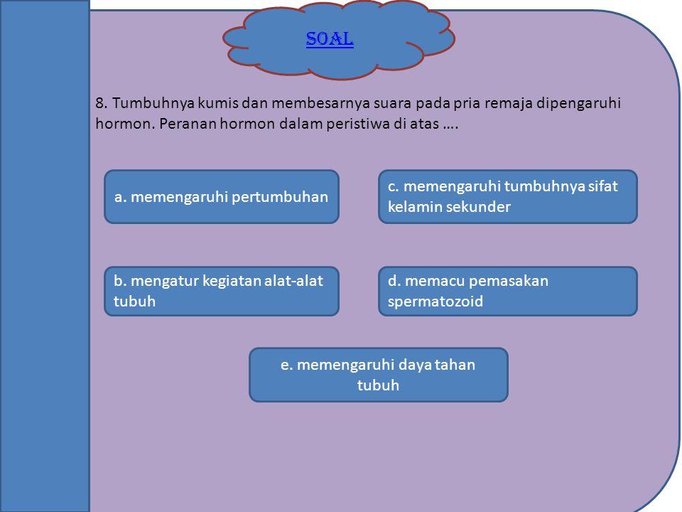 e. memengaruhi daya tahan tubuh