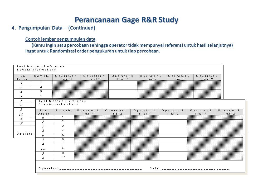 Perancanaan Gage R&R Study