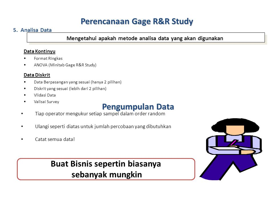 Perencanaan Gage R&R Study