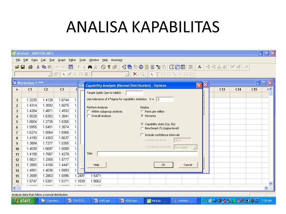 ANALISA KAPABILITAS