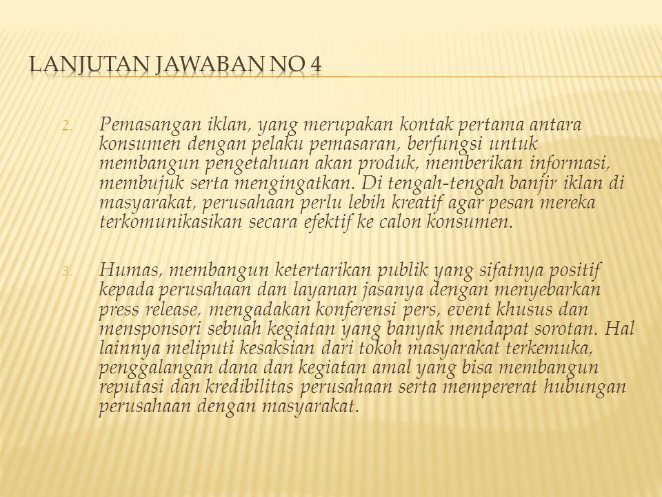 LANJUTAN JAWABAN NO 4