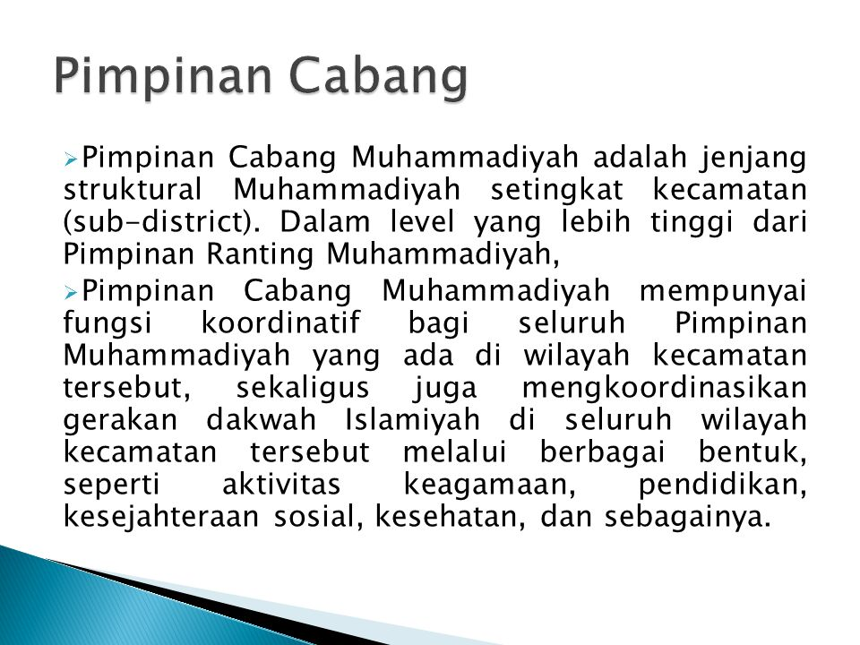 Pimpinan Cabang
