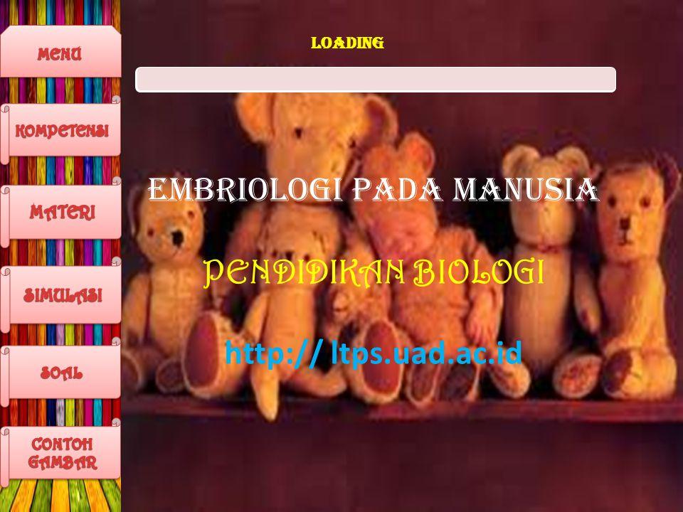 EMBRIOLOGI PADA MANUSIA