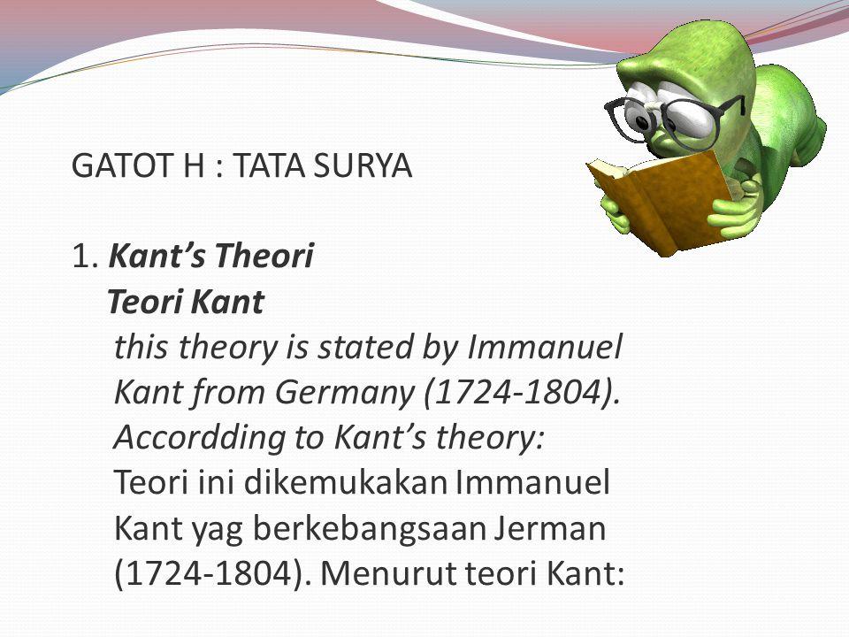GATOT H : TATA SURYA 1.
