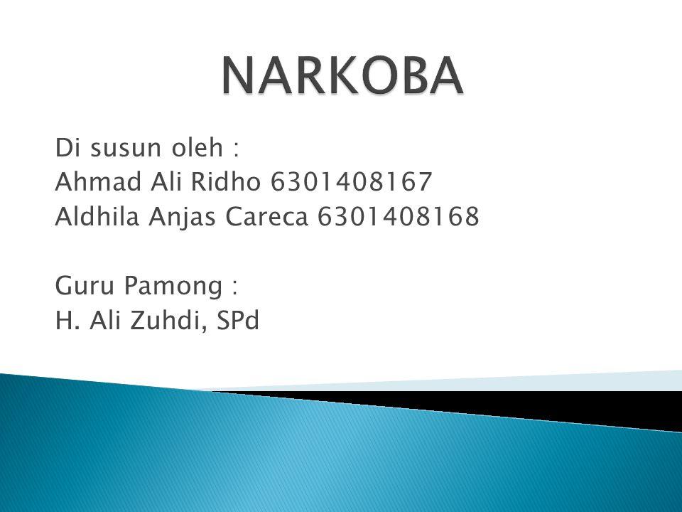NARKOBA Di susun oleh : Ahmad Ali Ridho 6301408167
