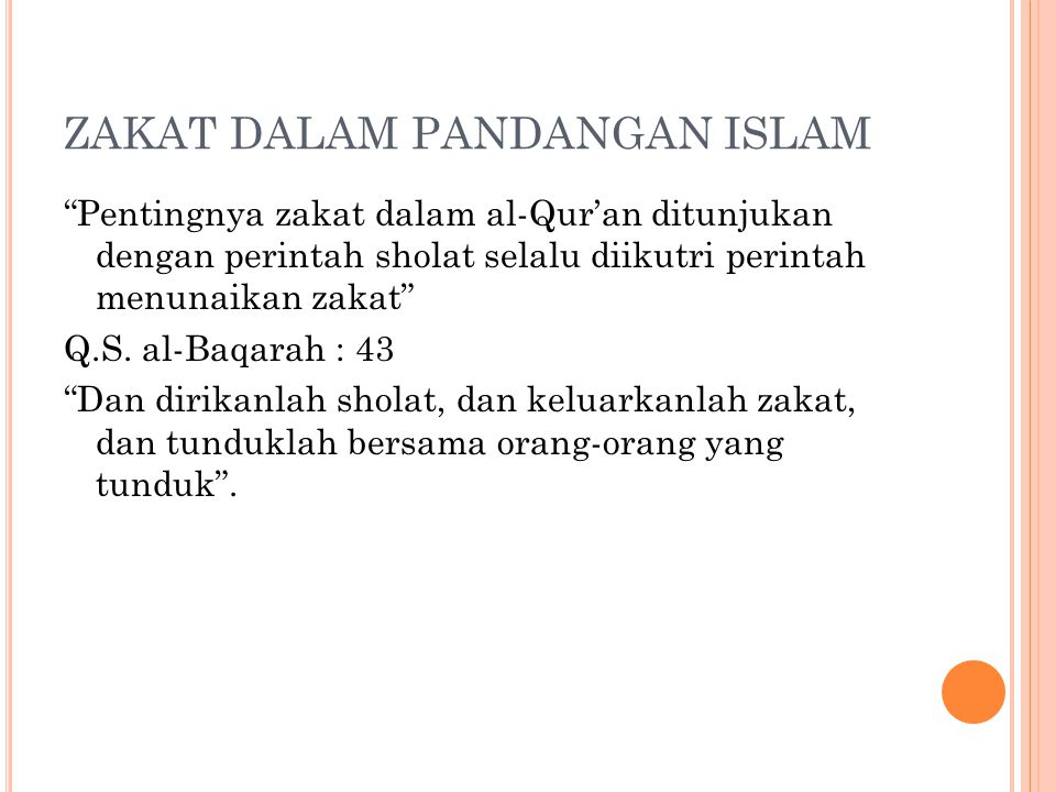 ZAKAT DALAM PANDANGAN ISLAM