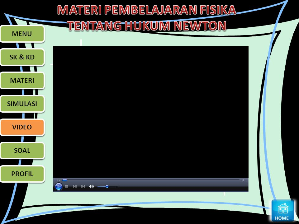 MENU MENU SK & KD SK & KD MATERI MATERI SIMULASI SIMULASI VIDEO VIDEO SOAL SOAL PROFIL PROFIL