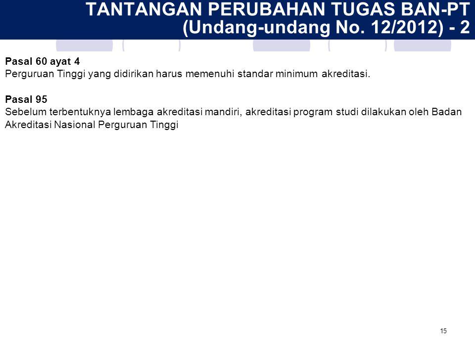 TANTANGAN PERUBAHAN TUGAS BAN-PT (Undang-undang No. 12/2012) - 2