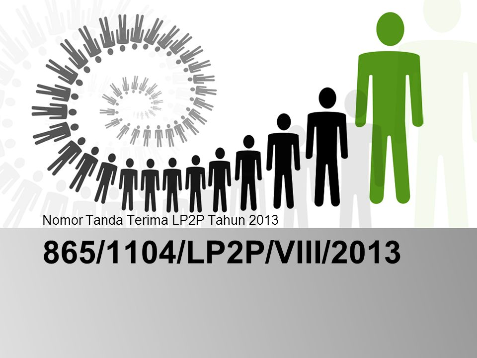 Nomor Tanda Terima LP2P Tahun 2013