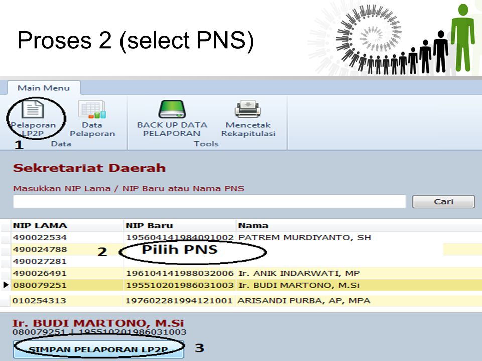 Proses 2 (select PNS)