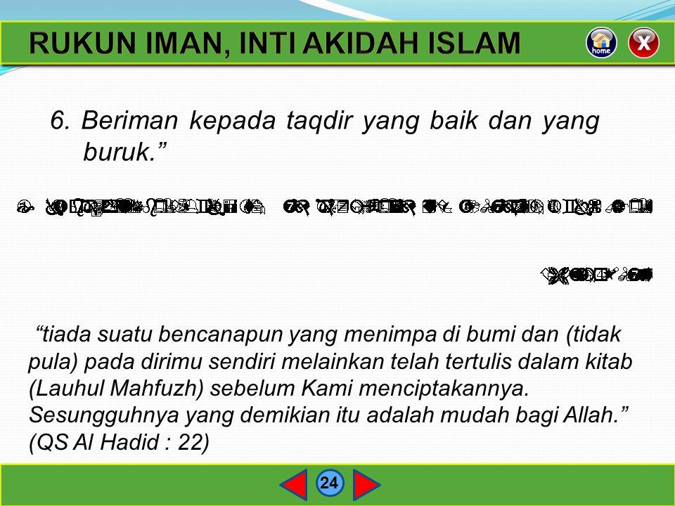 RUKUN IMAN, INTI AKIDAH ISLAM