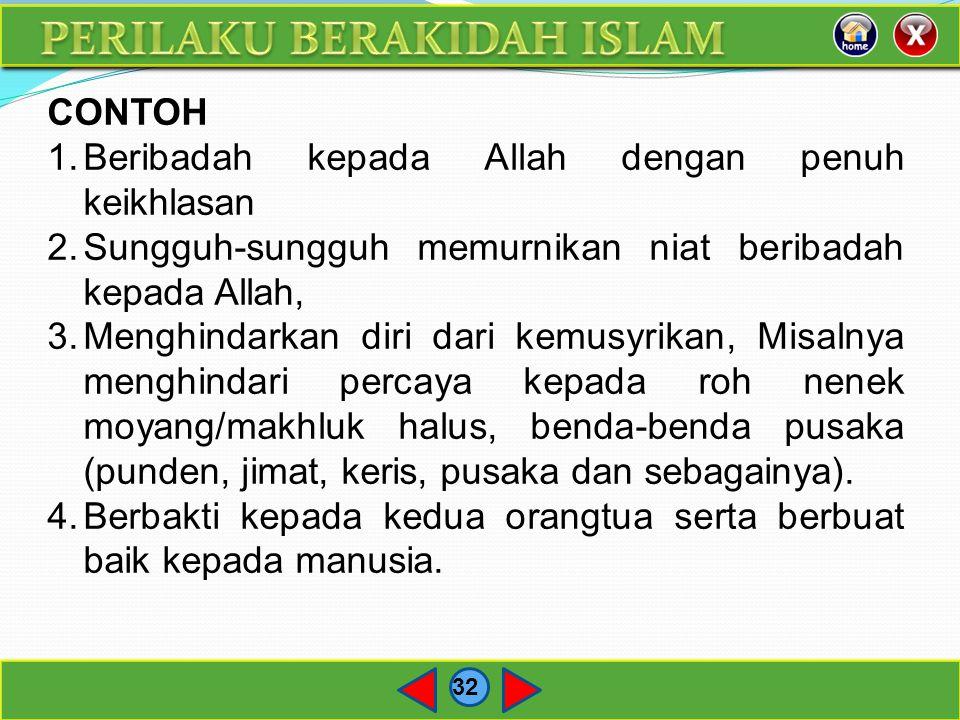 PERILAKU BERAKIDAH ISLAM