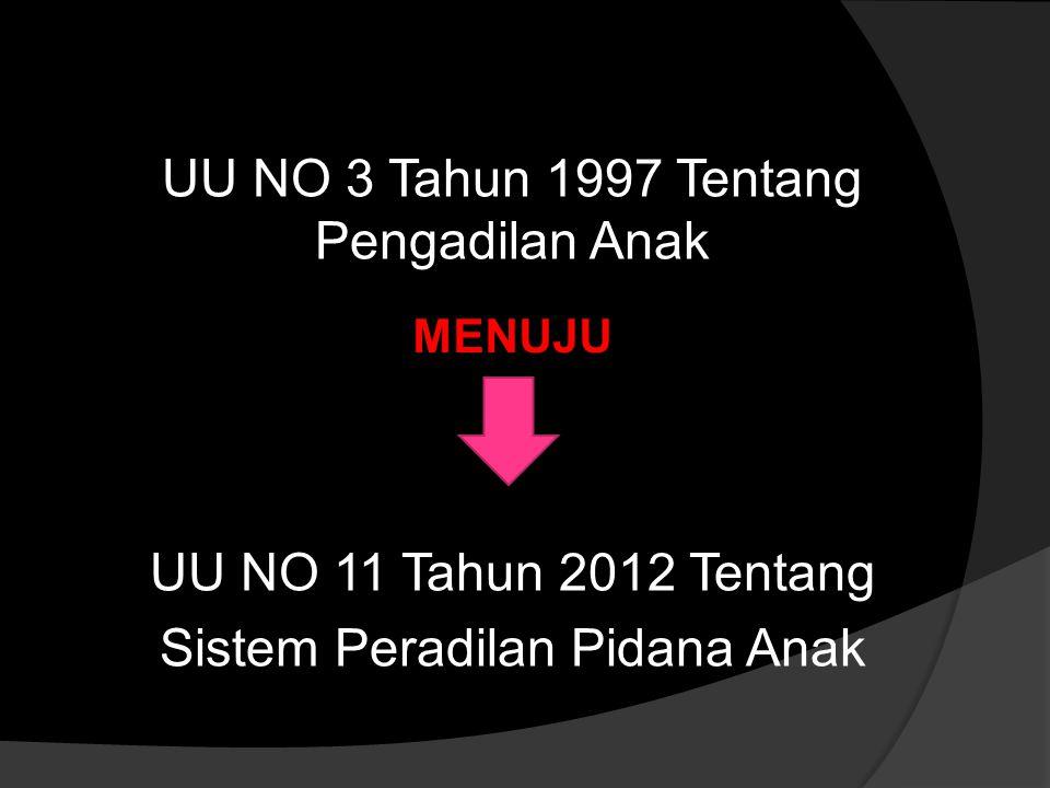 UU NO 3 Tahun 1997 Tentang Pengadilan Anak