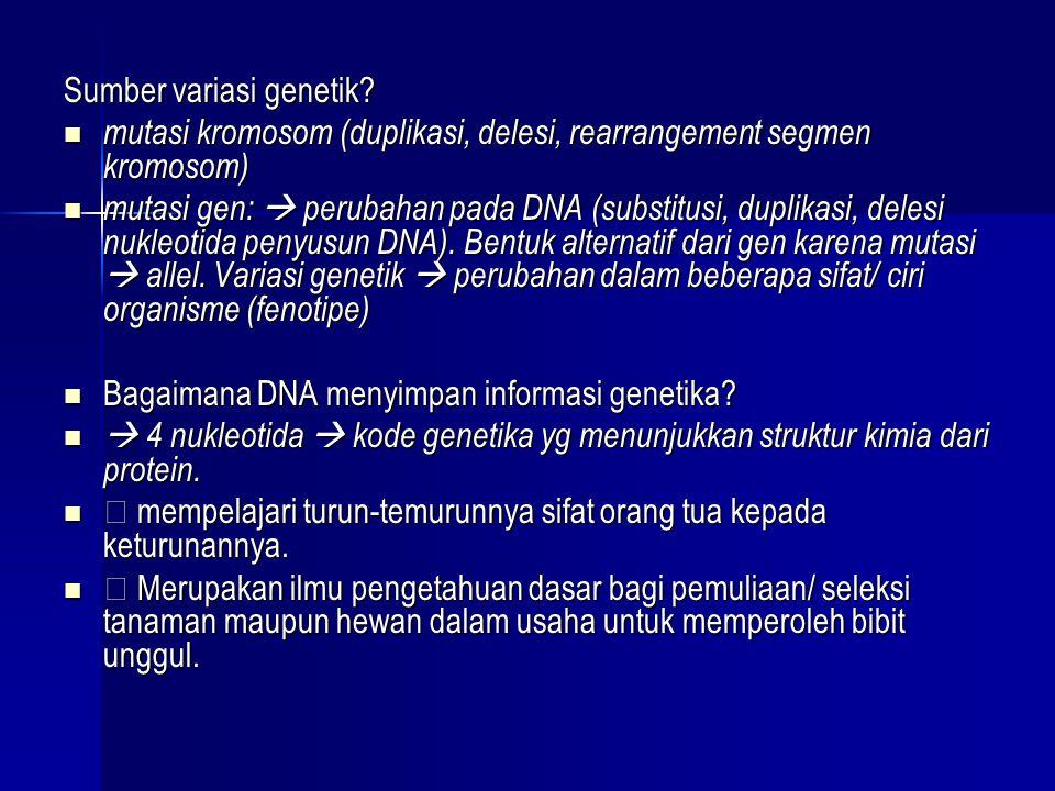 Sumber variasi genetik
