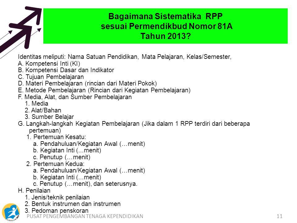 Bagaimana Sistematika RPP sesuai Permendikbud Nomor 81A