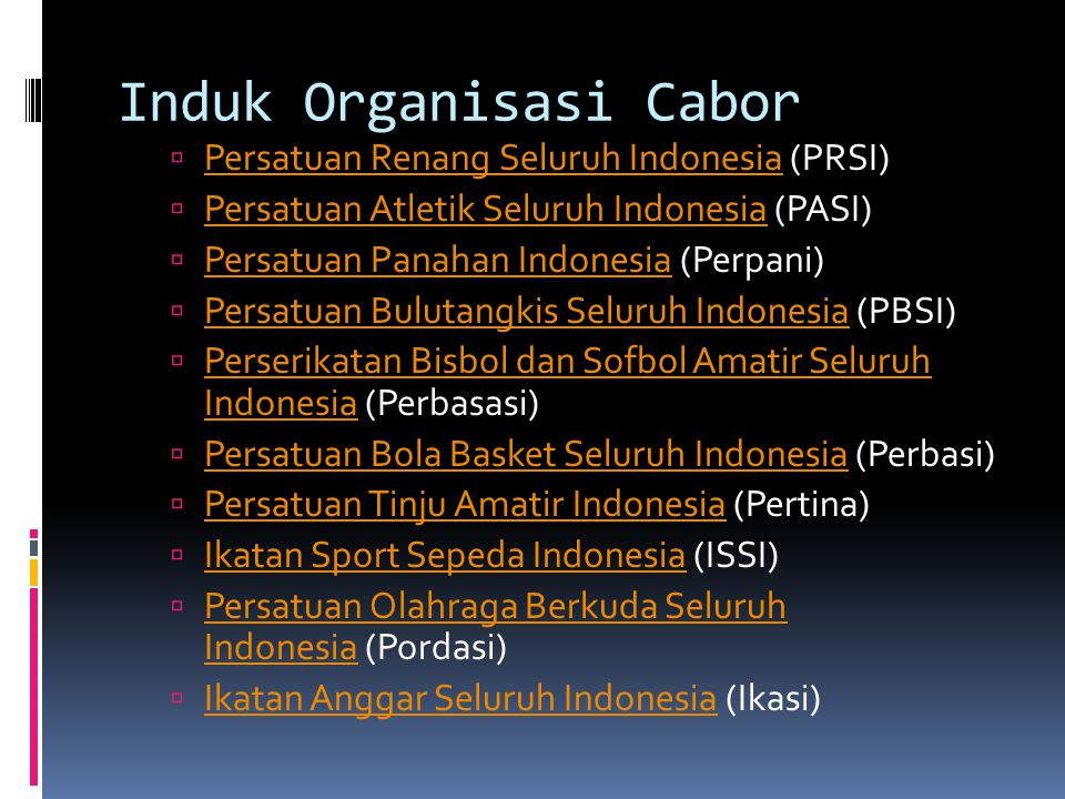 Induk Organisasi Cabor