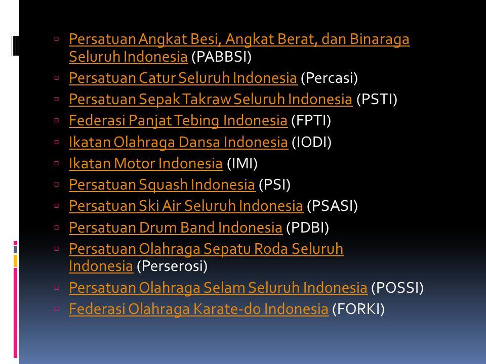 Persatuan Angkat Besi, Angkat Berat, dan Binaraga Seluruh Indonesia (PABBSI)