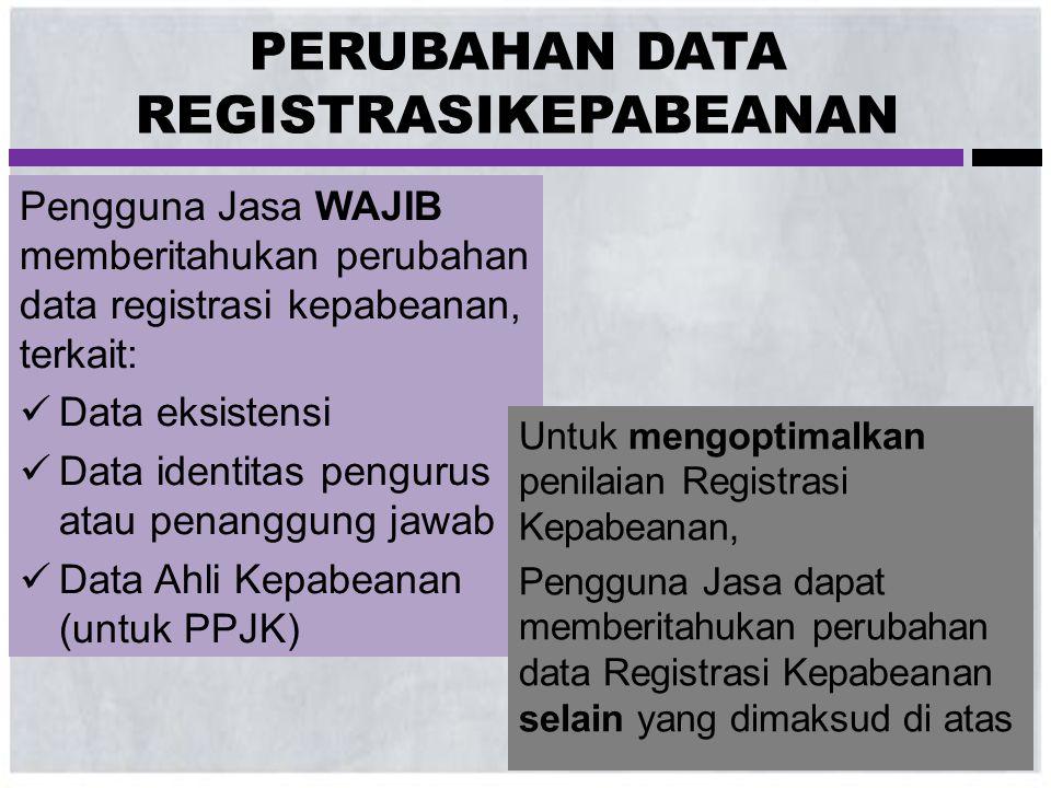 PERUBAHAN DATA REGISTRASIKEPABEANAN