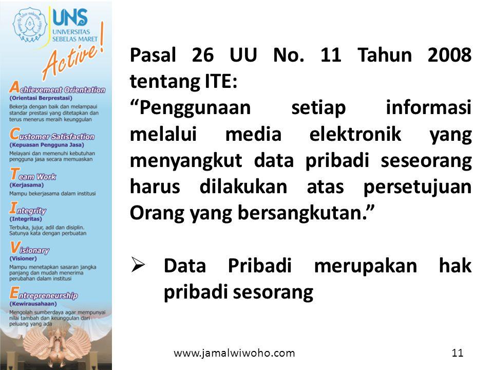 Pasal 26 UU No. 11 Tahun 2008 tentang ITE: