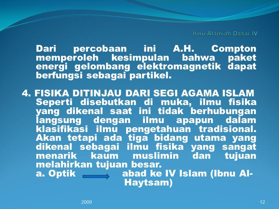 4. FISIKA DITINJAU DARI SEGI AGAMA ISLAM