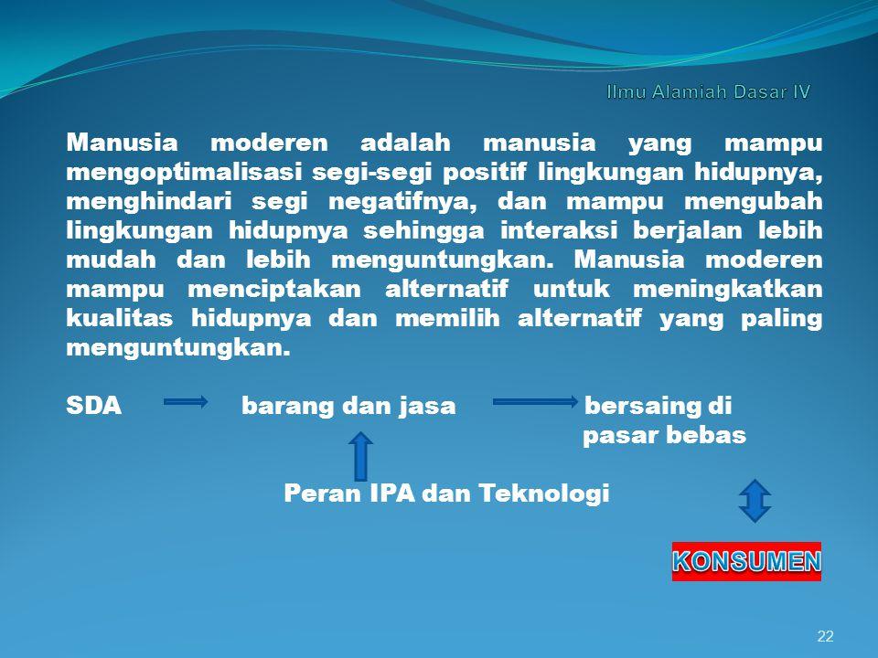 SDA barang dan jasa bersaing di pasar bebas Peran IPA dan Teknologi