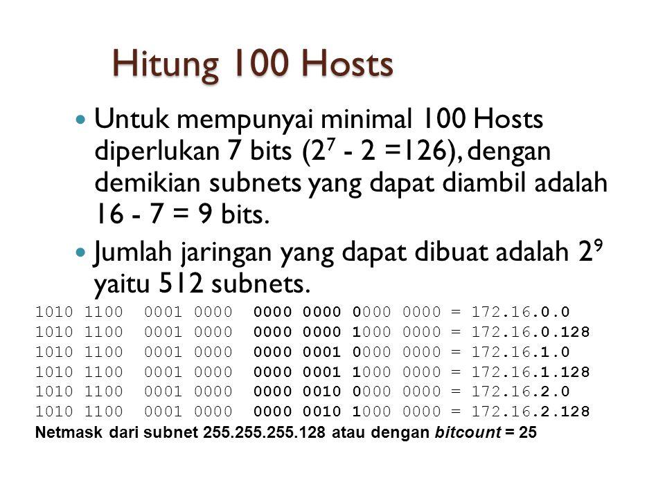 Hitung 100 Hosts