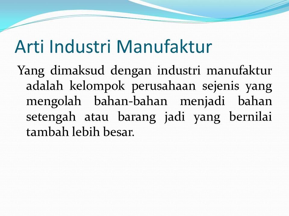 Arti Industri Manufaktur