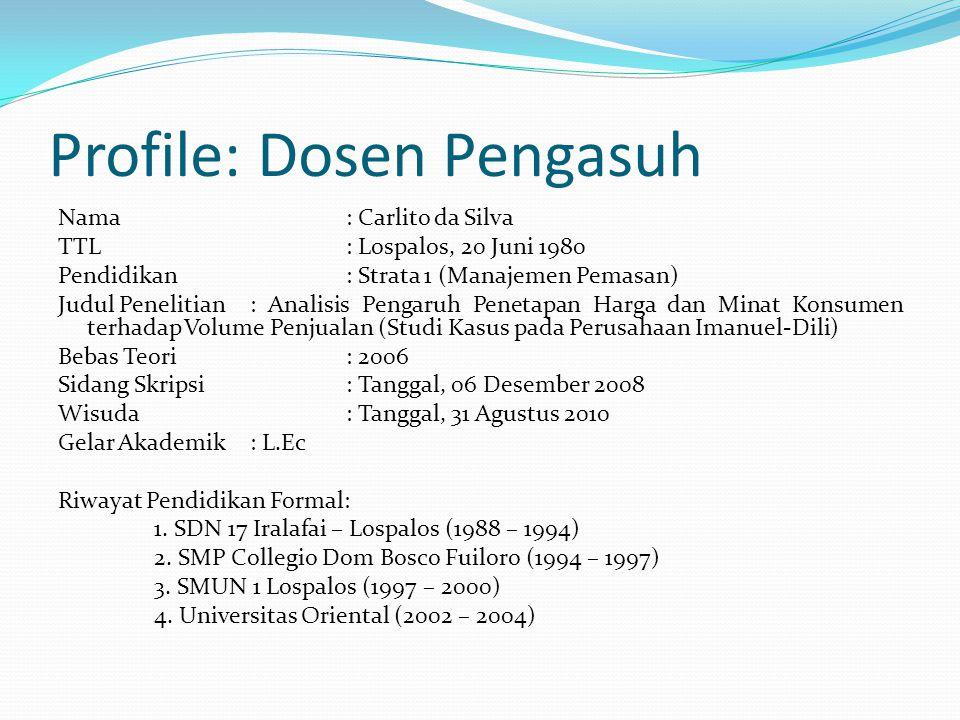Profile: Dosen Pengasuh