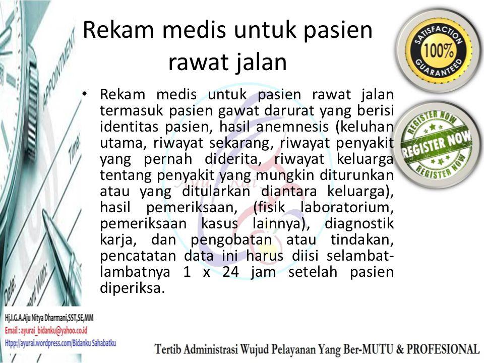 Rekam medis untuk pasien rawat jalan