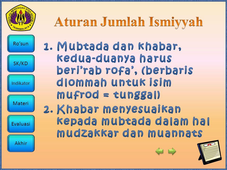 Aturan Jumlah Ismiyyah