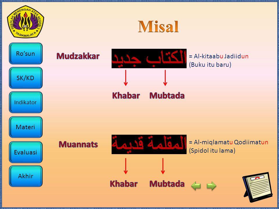 Misal Mudzakkar Khabar Mubtada Muannats Khabar Mubtada