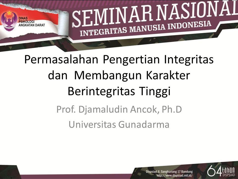Prof. Djamaludin Ancok, Ph.D Universitas Gunadarma