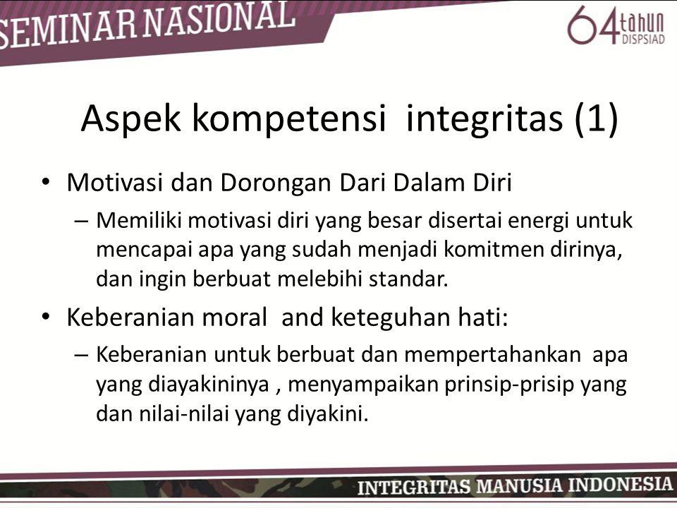 Aspek kompetensi integritas (1)
