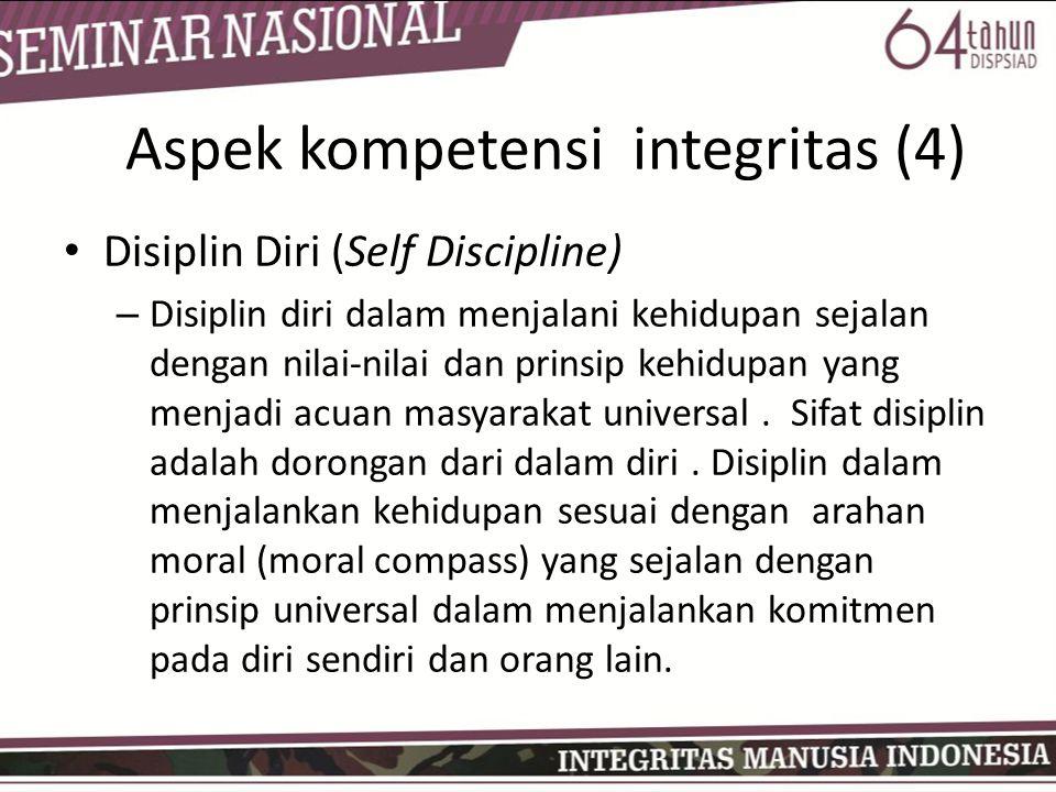 Aspek kompetensi integritas (4)