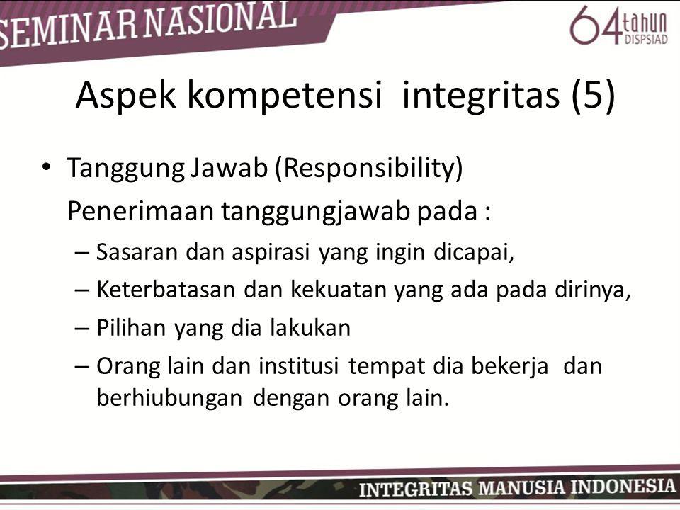 Aspek kompetensi integritas (5)