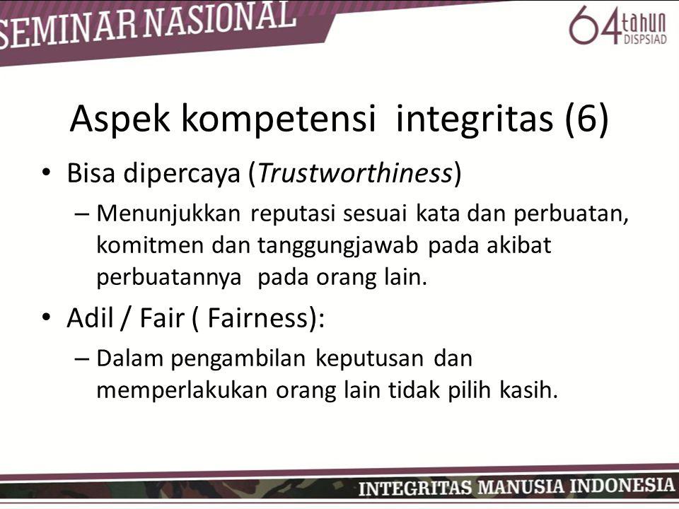 Aspek kompetensi integritas (6)
