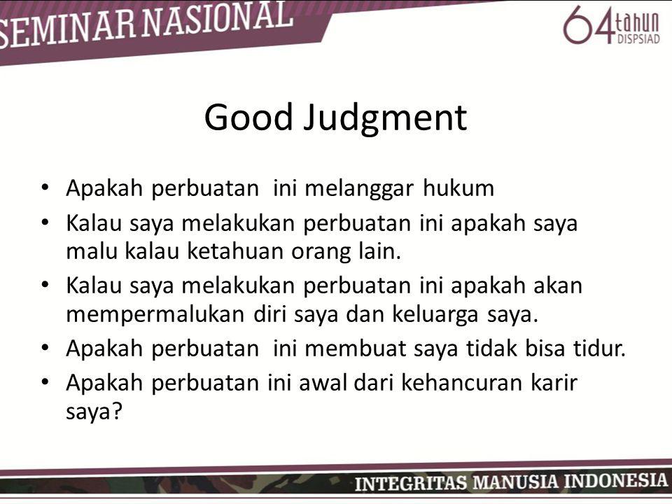 Good Judgment Apakah perbuatan ini melanggar hukum