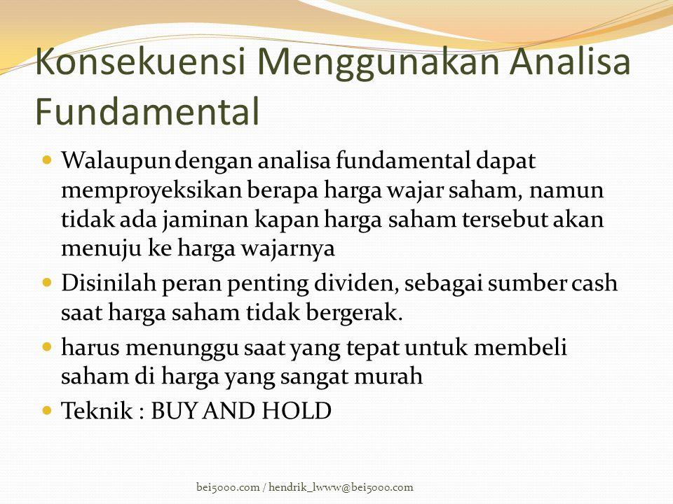 Konsekuensi Menggunakan Analisa Fundamental