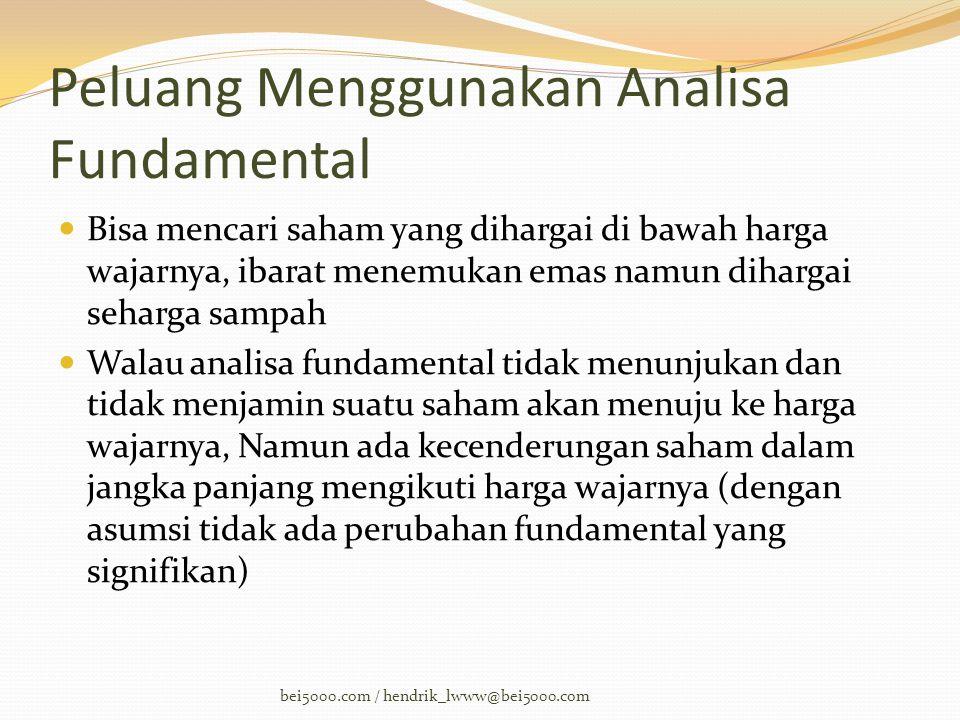 Peluang Menggunakan Analisa Fundamental