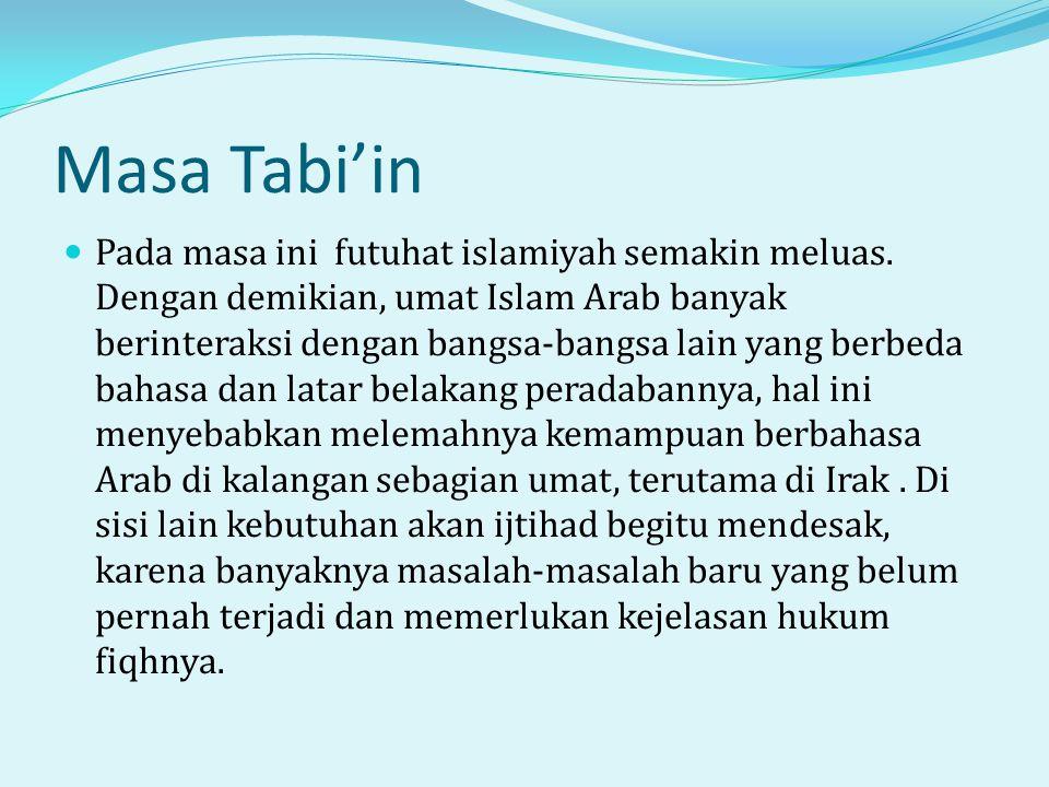 Masa Tabi'in