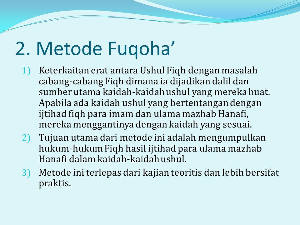 2. Metode Fuqoha'