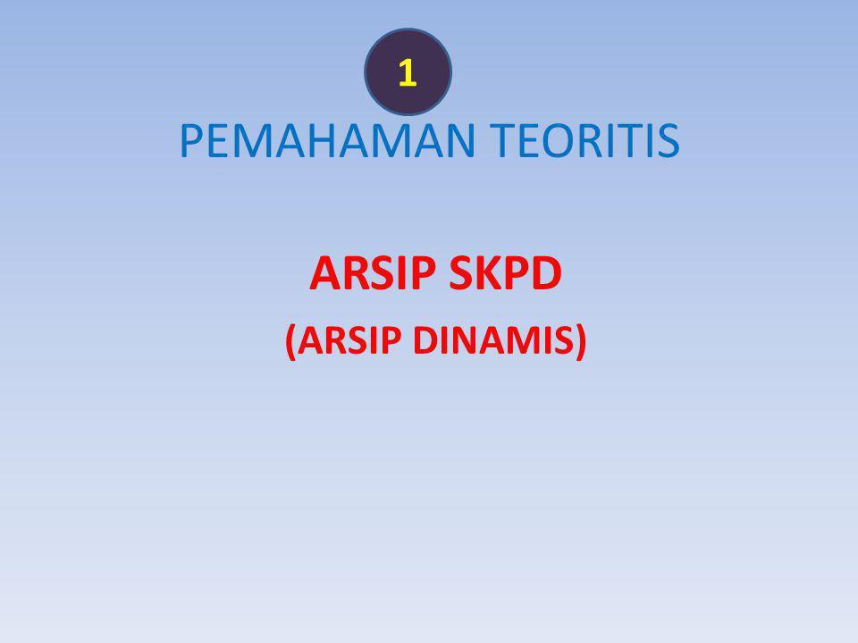 1 PEMAHAMAN TEORITIS ARSIP SKPD (ARSIP DINAMIS)
