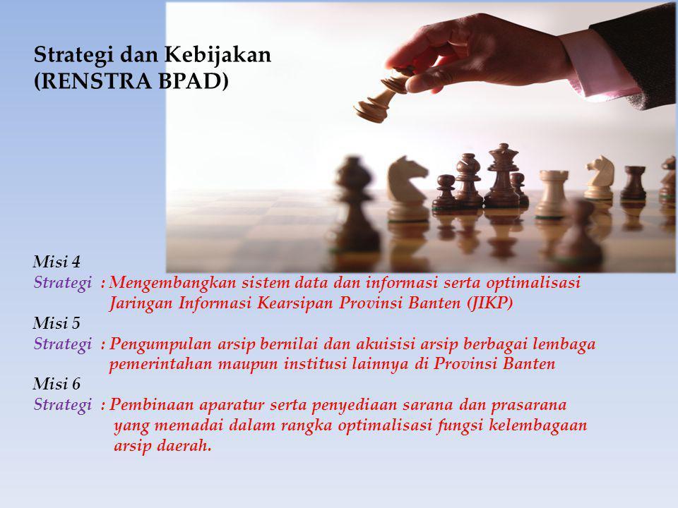 Strategi dan Kebijakan (RENSTRA BPAD)