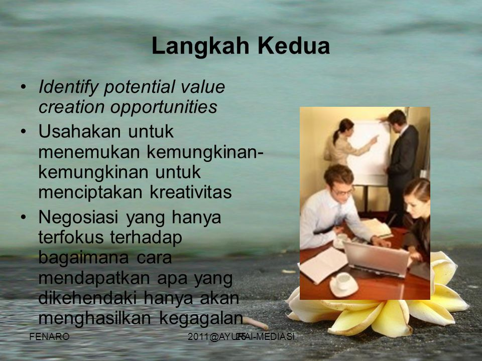 Langkah Kedua Identify potential value creation opportunities